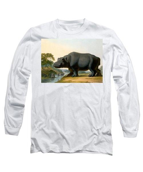 The Hippopotamus, 1804 Long Sleeve T-Shirt by Samuel Daniell