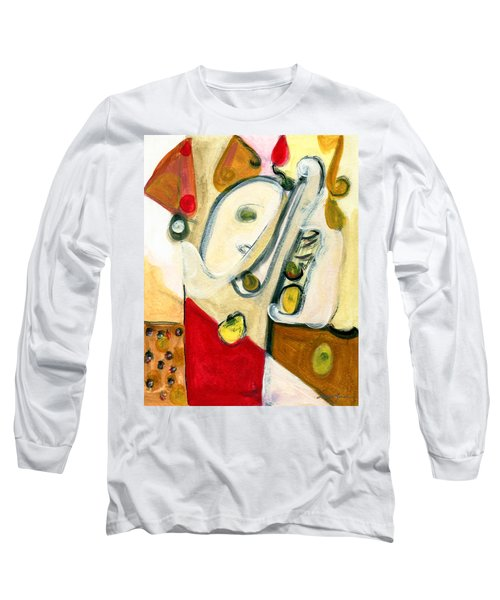 The Horn Player Long Sleeve T-Shirt by Stephen Lucas