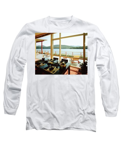 The House Of Mr. And Mrs. Alfred Rose On Lake Long Sleeve T-Shirt