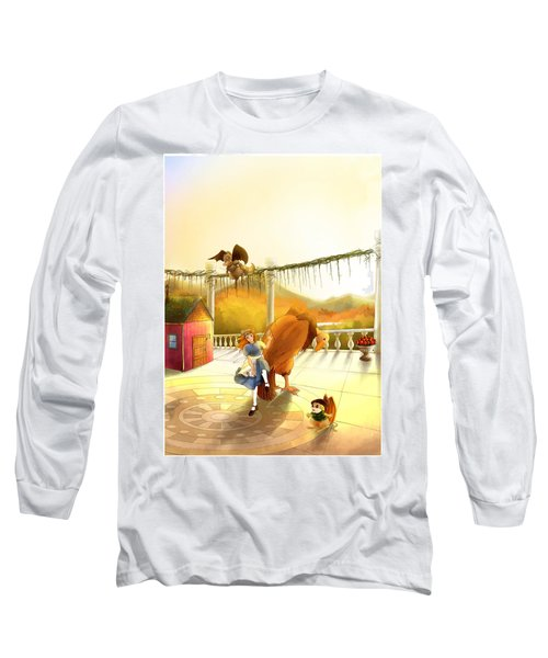 The Landing On The Balcony  Long Sleeve T-Shirt