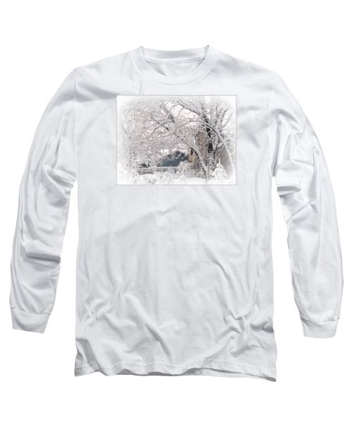 Long Sleeve T-Shirt featuring the photograph The Last Snow Storm by Kay Novy