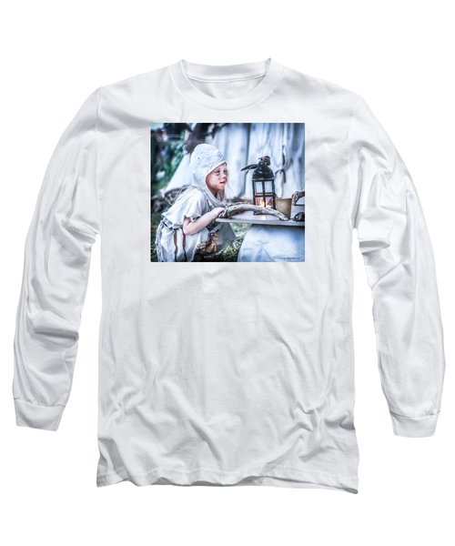 Long Sleeve T-Shirt featuring the photograph The Leprosy Child And The Healing Lantern by Stwayne Keubrick