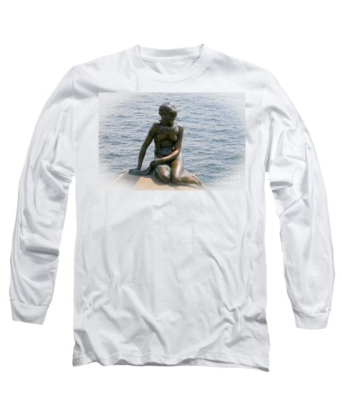 Long Sleeve T-Shirt featuring the photograph The Little Mermaid Of Copenhagen by Victoria Harrington