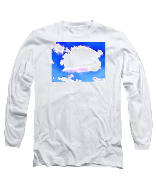 Long Sleeve T-Shirt featuring the photograph The Little White Cloud That Cried by Sadie Reneau