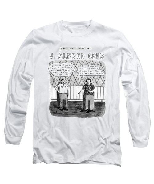 The Love Song Of J. Alfred Crew Long Sleeve T-Shirt