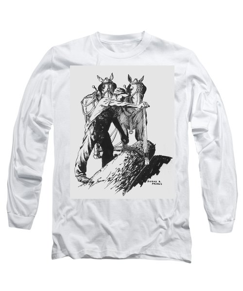 The Lumberjack Long Sleeve T-Shirt by Duane R Probus