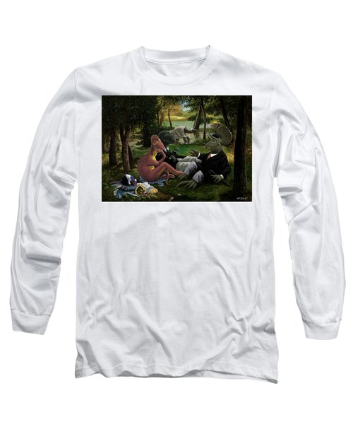 The Luncheon On The Grass With Dinosaurs Long Sleeve T-Shirt