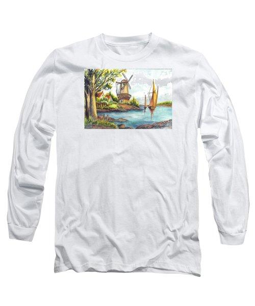 The Olde Mill Long Sleeve T-Shirt by Carol Wisniewski