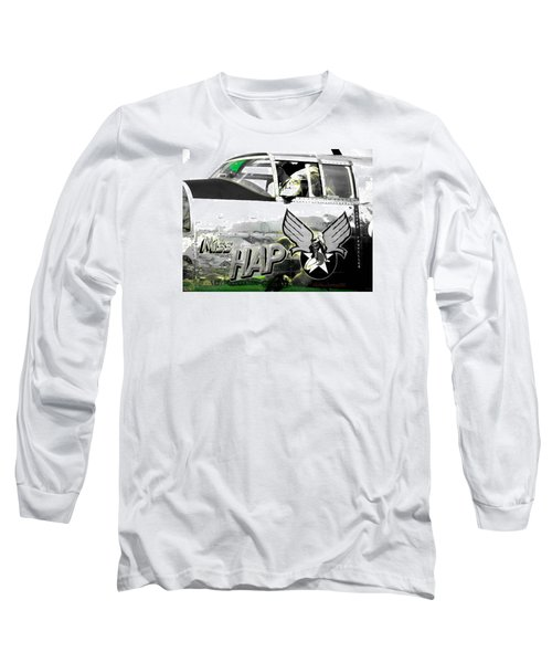 Long Sleeve T-Shirt featuring the photograph The Miss Hap by Kathy Barney