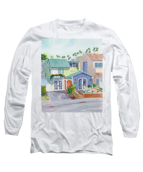 The Most Colorful Home In Belmont Shore Long Sleeve T-Shirt by Debbie Lewis