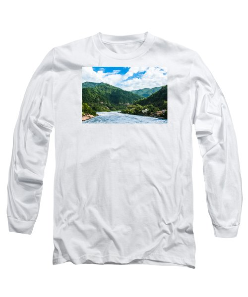 The Mountain Valley Of Rishikesh Long Sleeve T-Shirt