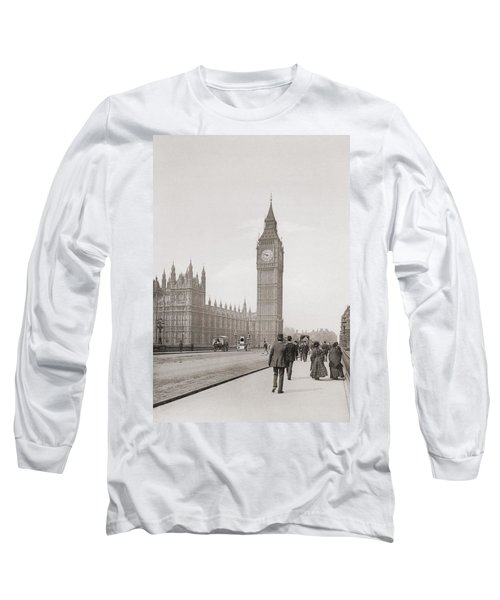 The Palace Of Westminster, Aka The Houses Of Parliament Or Westminster Palace, London, England Long Sleeve T-Shirt