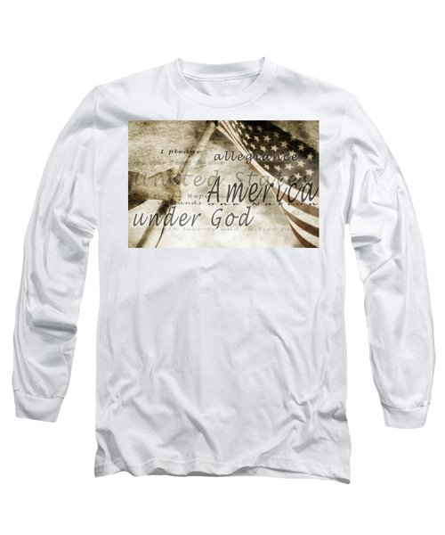 The Pledge Of Allegiance And An Long Sleeve T-Shirt