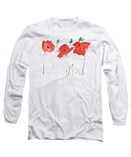 The Poppy Ladies Long Sleeve T-Shirt by Kathleen McElwaine