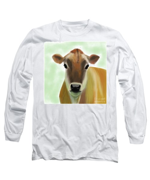The Pretty Jersey Cow  Long Sleeve T-Shirt