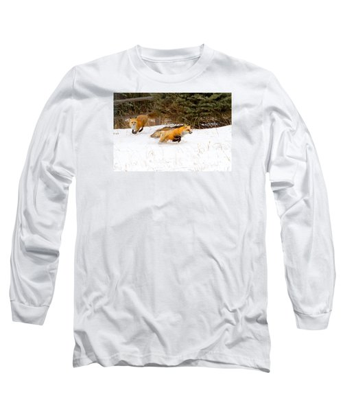 The Race Is On Long Sleeve T-Shirt by Jim Garrison