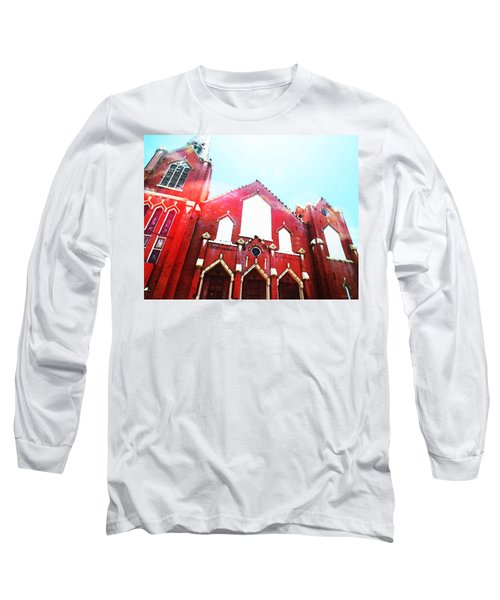 The Red Church By Sharon Cummings Long Sleeve T-Shirt