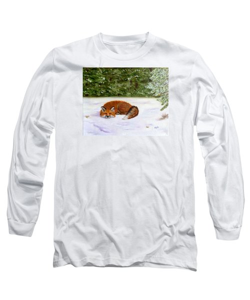 The Red Fox Of Winter Long Sleeve T-Shirt