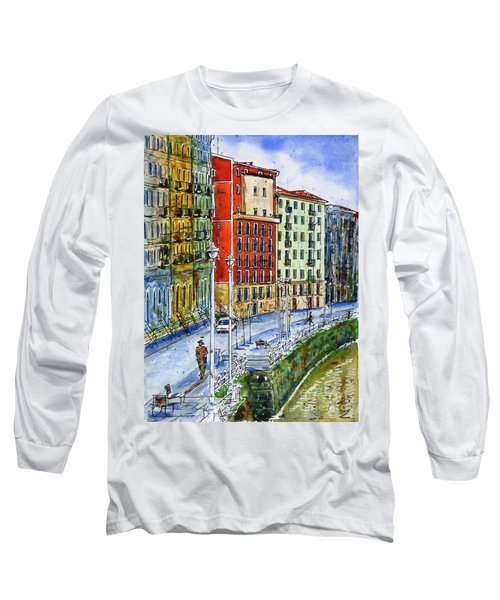 The Riverside Houses At Bilbao La Vieja Long Sleeve T-Shirt