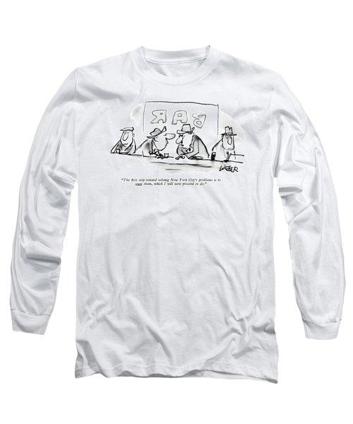 The ?rst Step Toward Solving New York City's Long Sleeve T-Shirt