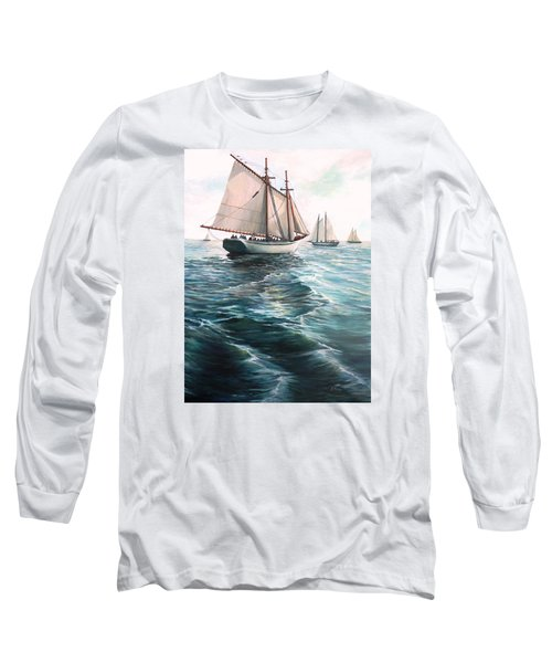 The Schooners Long Sleeve T-Shirt by Eileen Patten Oliver