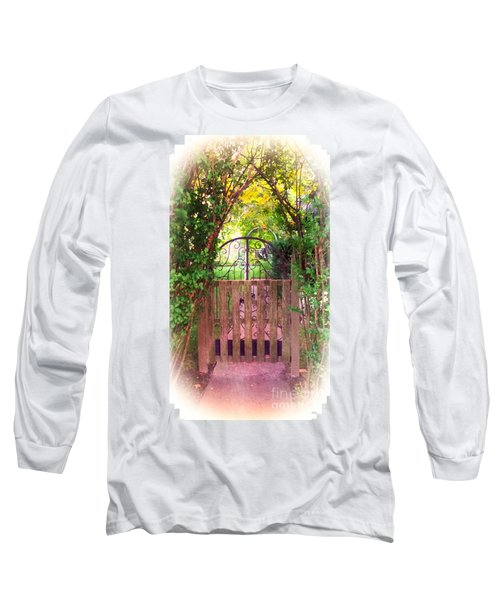 The Secret Gardens Gate Long Sleeve T-Shirt by Becky Lupe