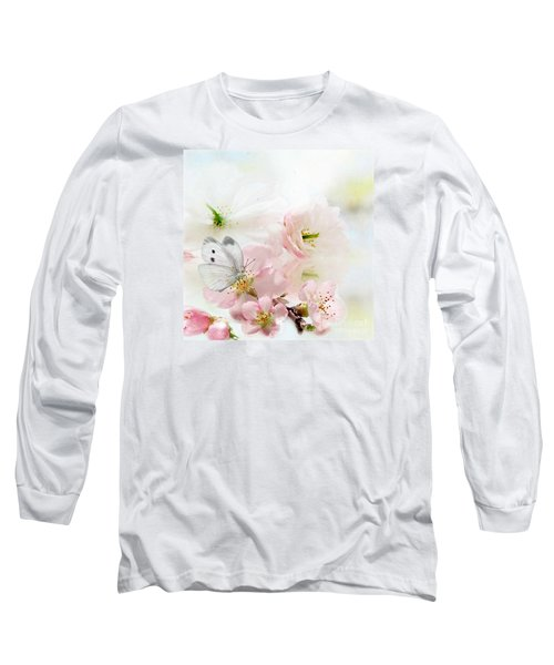 The Silent World Of A Butterfly Long Sleeve T-Shirt by Morag Bates