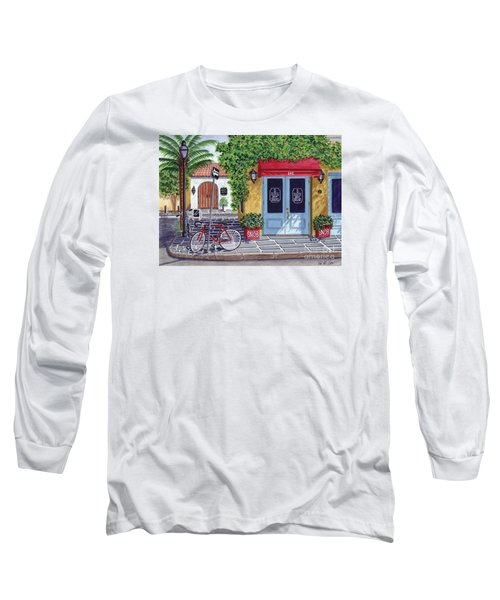 Long Sleeve T-Shirt featuring the painting The Snob Restaurant by Val Miller