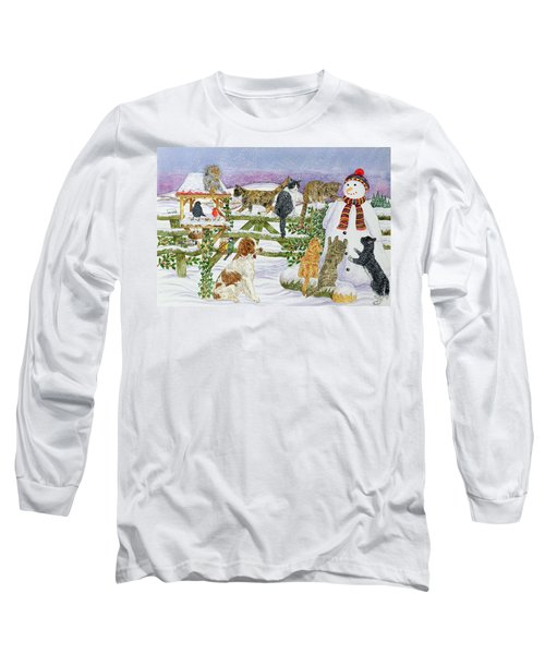 The Snowman And His Friends  Long Sleeve T-Shirt