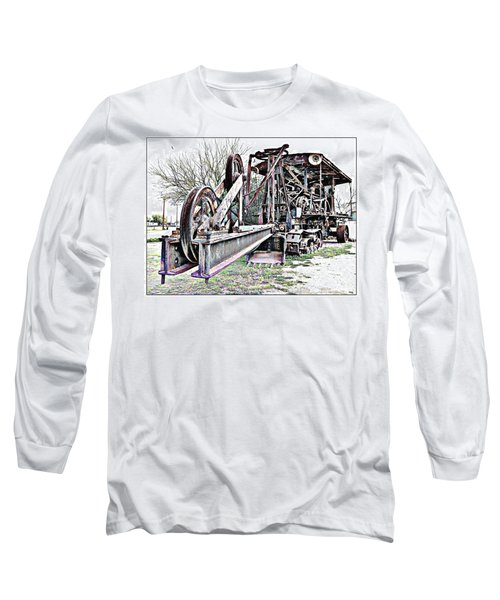 The Steam Shovel Long Sleeve T-Shirt by Glenn McCarthy Art and Photography