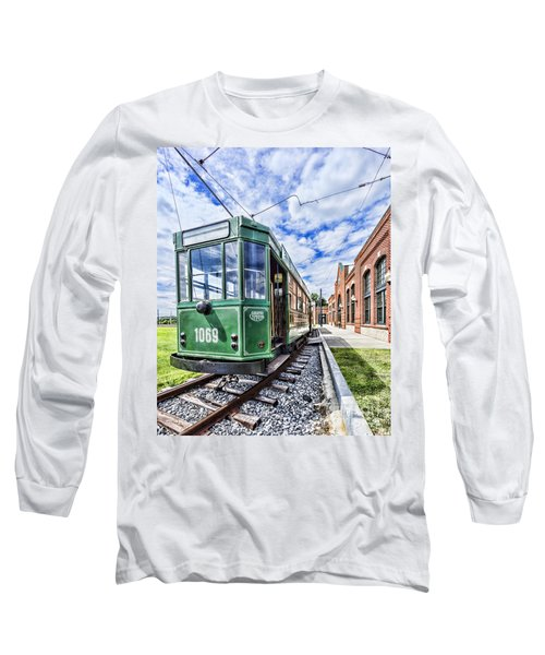 The Stib 1069 Streetcar At The National Capital Trolley Museum I Long Sleeve T-Shirt