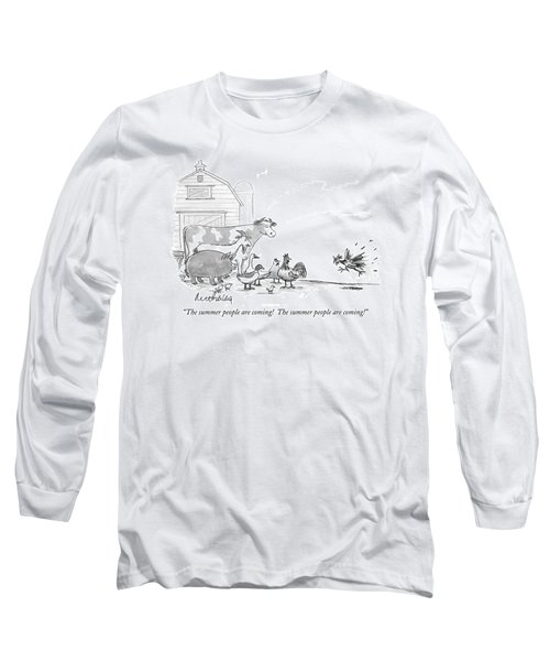 The Summer People Are Coming!  The Summer People Long Sleeve T-Shirt