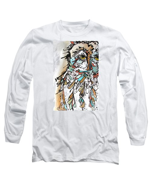 Long Sleeve T-Shirt featuring the painting The Teacher by Nicole Gaitan