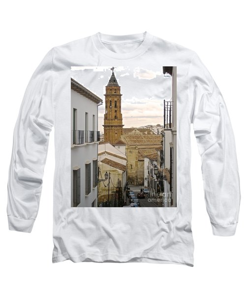 Long Sleeve T-Shirt featuring the photograph The Town Tower by Suzanne Oesterling