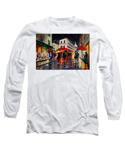 The Umbrellas Of Montmartre Long Sleeve T-Shirt