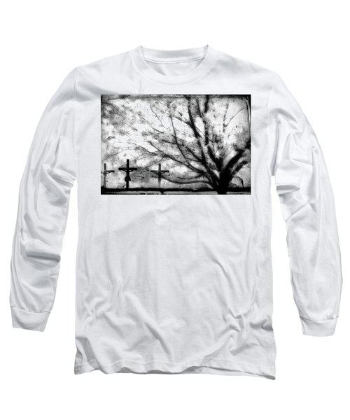 Long Sleeve T-Shirt featuring the painting The Veil Was Torn by Gray  Artus