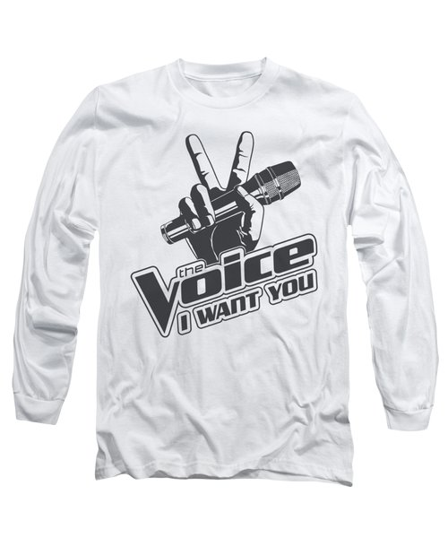 The Voice - One Color Logo Long Sleeve T-Shirt by Brand A
