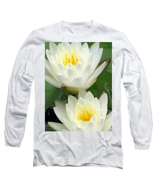 Long Sleeve T-Shirt featuring the photograph The Water Lilies Collection - 09 by Pamela Critchlow