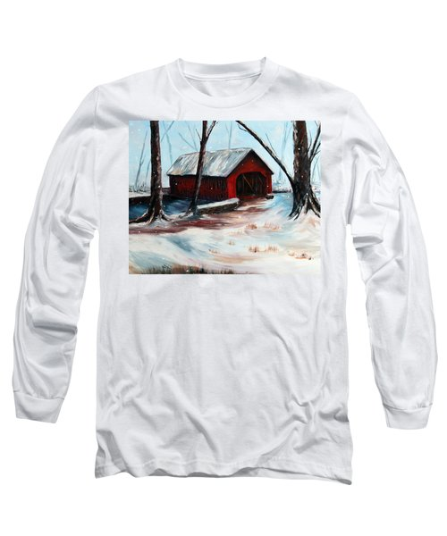 Long Sleeve T-Shirt featuring the painting The Way Home by Meaghan Troup