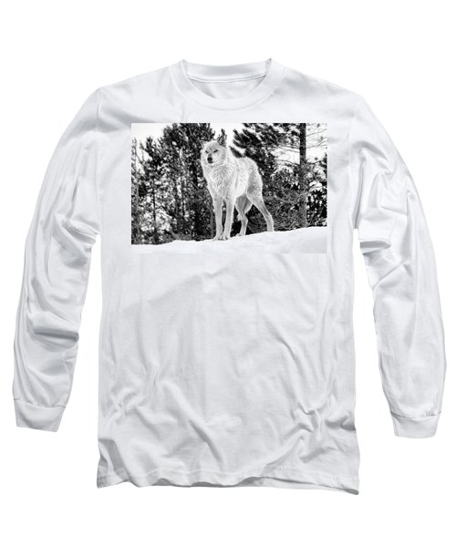 The Wolf  Long Sleeve T-Shirt by Fran Riley