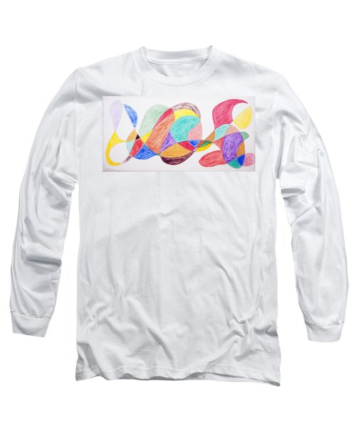 Long Sleeve T-Shirt featuring the painting Theme Parks by Stormm Bradshaw