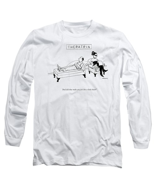 Theratrix -- A Domnatrix Sits In The Therapist's Long Sleeve T-Shirt