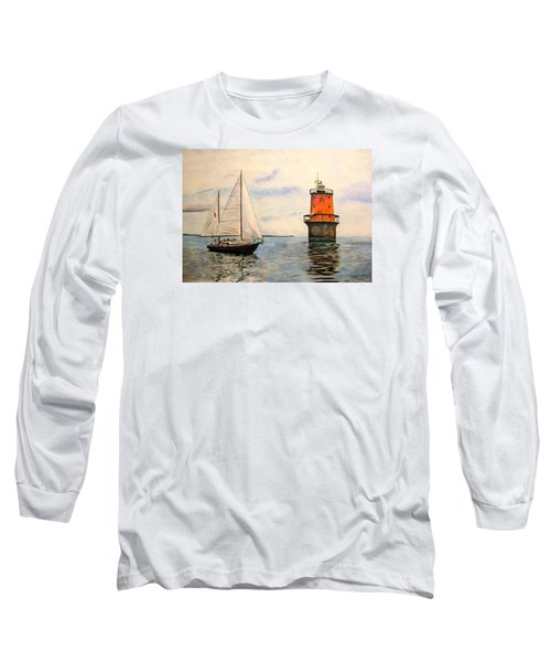 Thimble Shoals Light Long Sleeve T-Shirt by Stan Tenney