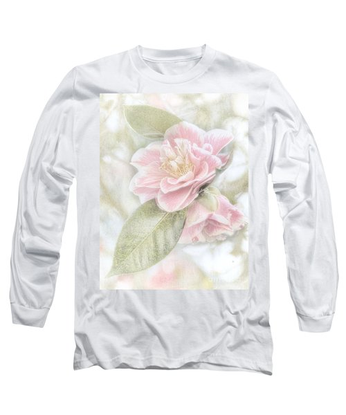 Think Pink Long Sleeve T-Shirt by Peggy Hughes