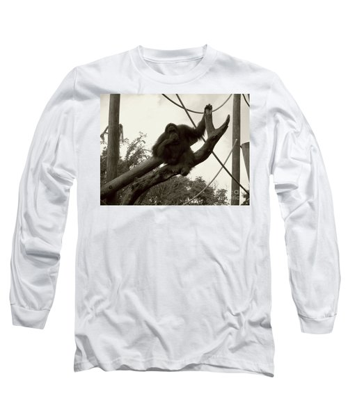 Long Sleeve T-Shirt featuring the photograph Thinking Of You Sepia by Joseph Baril