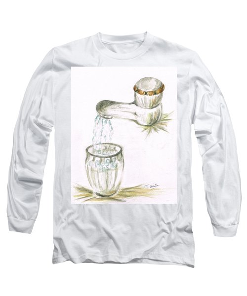 Long Sleeve T-Shirt featuring the painting Thirsty Of Water by Teresa White