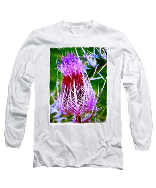 Thistle Long Sleeve T-Shirt by Judi Bagwell