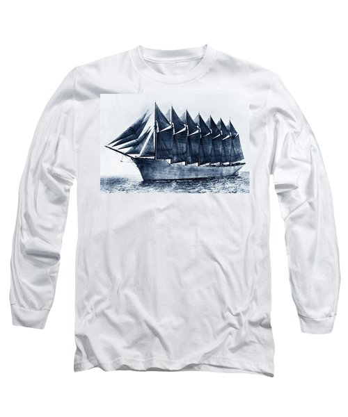 Thomas W. Lawson Seven-masted Schooner 1902 Long Sleeve T-Shirt