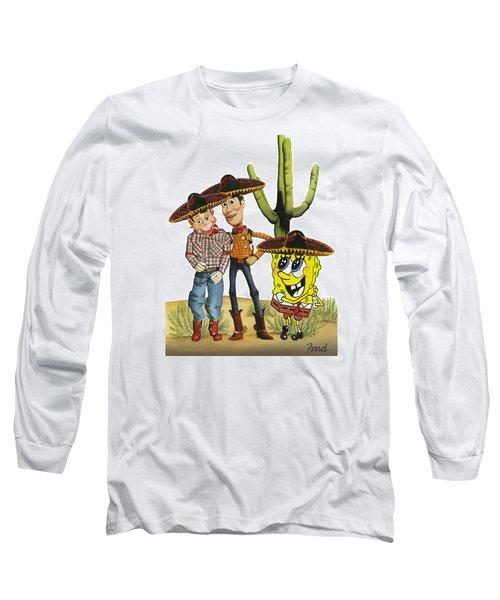 Three Amigos Long Sleeve T-Shirt by Ferrel Cordle