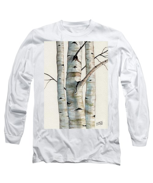 Three Birch Trees Long Sleeve T-Shirt
